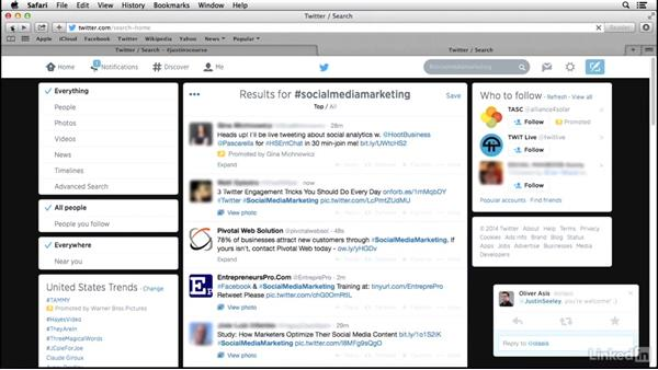 How to use hashtags in Twitter search: Social Media Marketing Tips (2014)