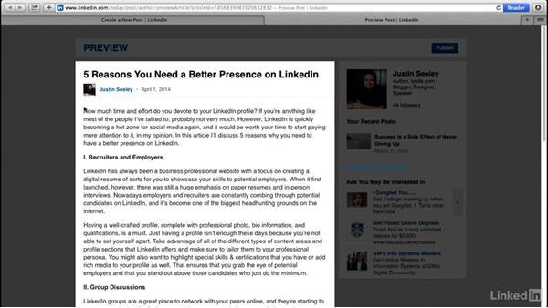Using the LinkedIn publishing platform: Social Media Marketing Tips (2014)