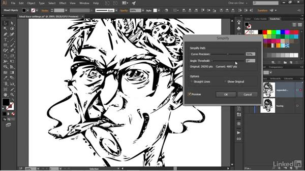 Auto-tracing in Illustrator: Illustrator CC 2015 One-on-One: Advanced