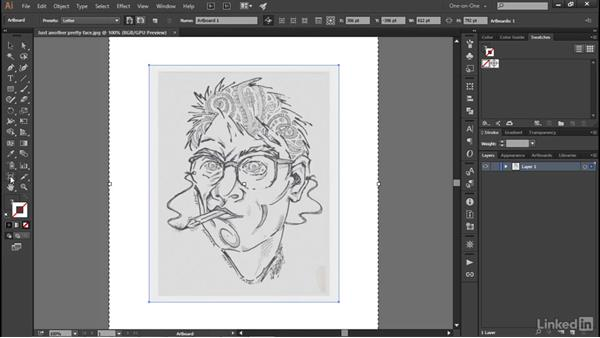 Opening an image to embed it: Illustrator CC 2015 One-on-One: Advanced