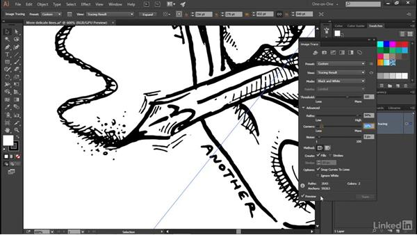 The advanced tracing options: Illustrator CC 2015 One-on-One: Advanced