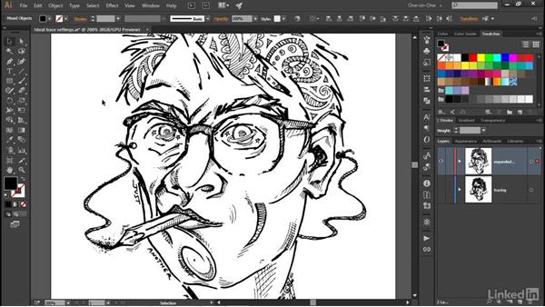 Expanding and simplifying traced paths: Illustrator CC 2015 One-on-One: Advanced
