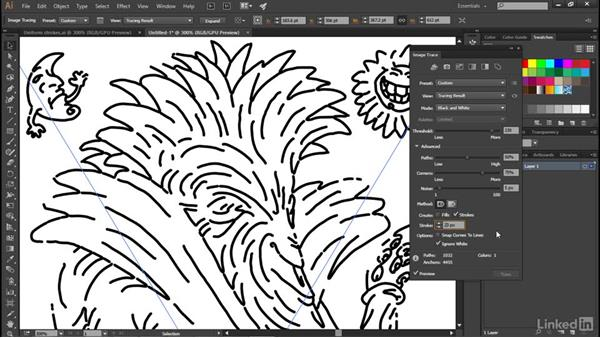Tracing lines with uniform strokes: Illustrator CC 2015 One-on-One: Advanced