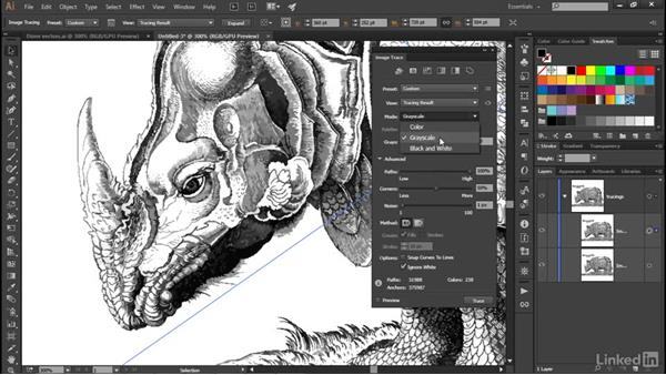 Tracing both strokes and color fills: Illustrator CC 2015 One-on-One: Advanced