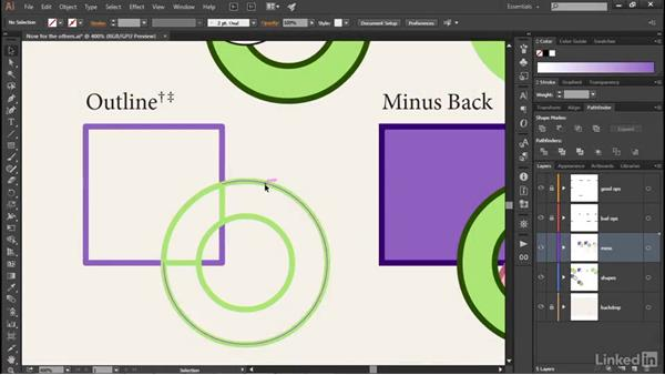 The world of complex path interactions: Illustrator CC 2015 One-on-One: Advanced