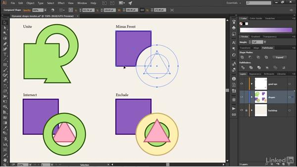 Building dynamic compound shapes: Illustrator CC 2015 One-on-One: Advanced