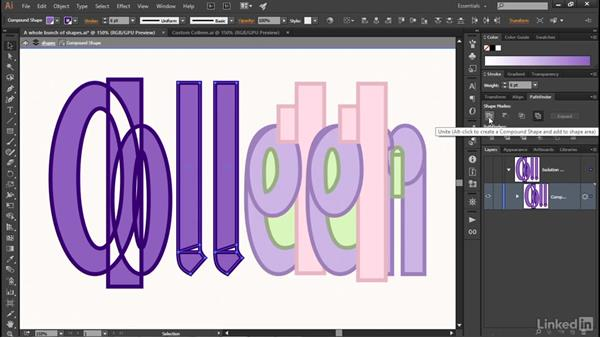 Mixing and matching shape modes: Illustrator CC 2015 One-on-One: Advanced