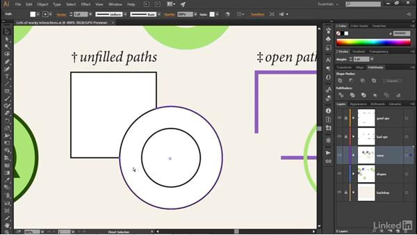 Working with unfilled and open paths: Illustrator CC 2015 One-on-One: Advanced
