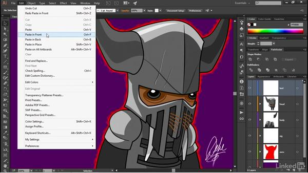 Moving objects between layers: Illustrator CC 2015 One-on-One: Advanced