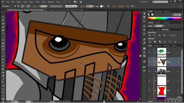Adjusting the stacking order: Illustrator CC 2015 One-on-One: Advanced