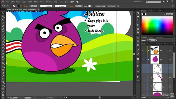 Expanding the contents of a layer: Illustrator CC 2015 One-on-One: Advanced