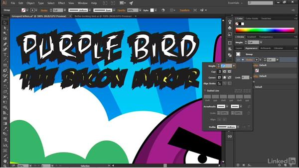 Targeting and formatting a group: Illustrator CC 2015 One-on-One: Advanced