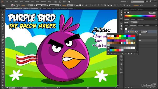 Targeting an entire layer: Illustrator CC 2015 One-on-One: Advanced
