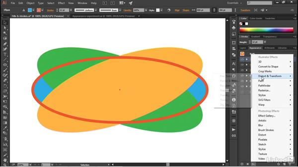 Transforming fills and strokes: Illustrator CC 2015 One-on-One: Advanced