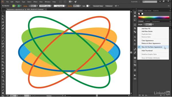 Clearing and duplicating appearances: Illustrator CC 2015 One-on-One: Advanced