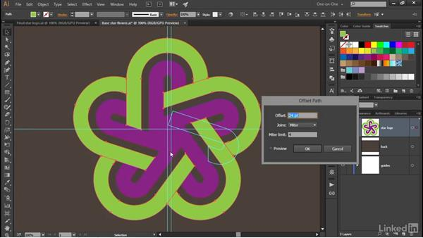 Offset Path: A different way to scale: Illustrator CC 2015 One-on-One: Advanced