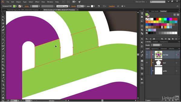 Adding skewed gradient shadows: Illustrator CC 2015 One-on-One: Advanced