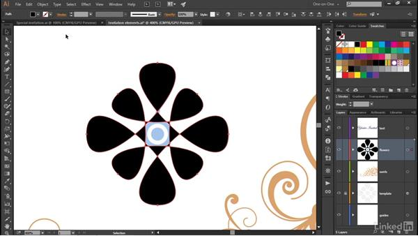 Transforming partial path outlines: Illustrator CC 2015 One-on-One: Advanced