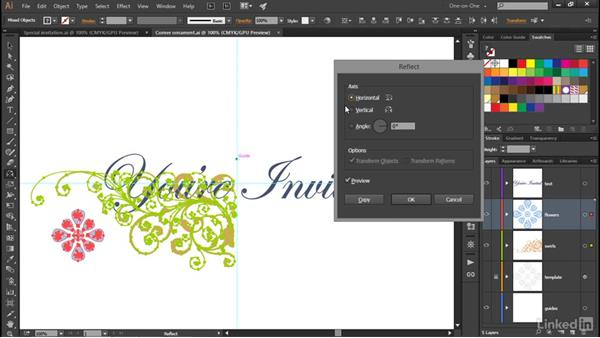 Using the Reflect tool: Illustrator CC 2015 One-on-One: Advanced