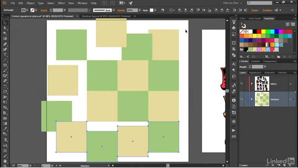 How alignment and distribution work: Illustrator CC 2015 One-on-One: Advanced