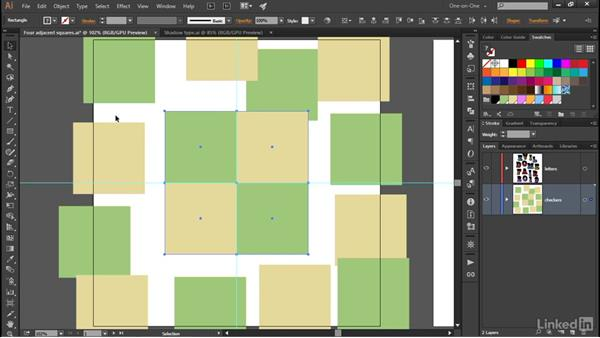 Aligning a group to the artboard: Illustrator CC 2015 One-on-One: Advanced