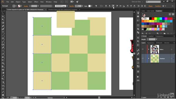 """Aligning to a fixed """"key"""" object: Illustrator CC 2015 One-on-One: Advanced"""