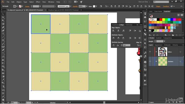 Distributing by a specified amount of space: Illustrator CC 2015 One-on-One: Advanced