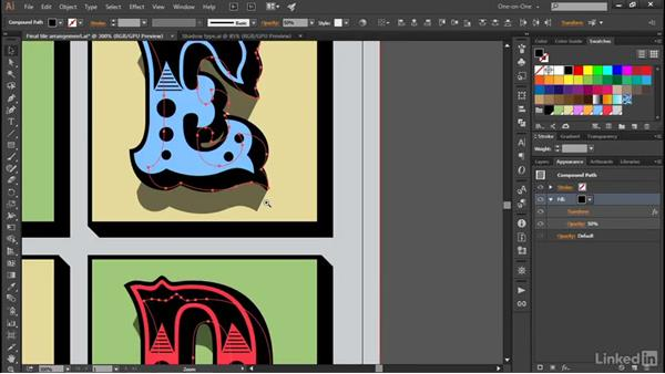 Casting shadows from faux 3D objects: Illustrator CC 2015 One-on-One: Advanced