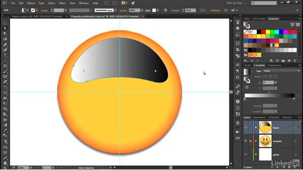 Adding transparency to a gradient: Illustrator CC 2015 One-on-One: Advanced