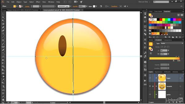 Working with radial gradients: Illustrator CC 2015 One-on-One: Advanced