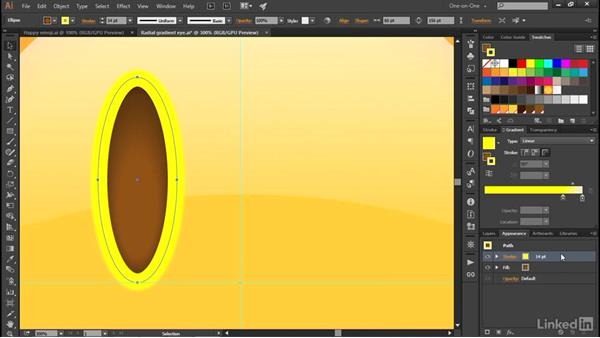 Assigning a gradient stroke: Illustrator CC 2015 One-on-One: Advanced