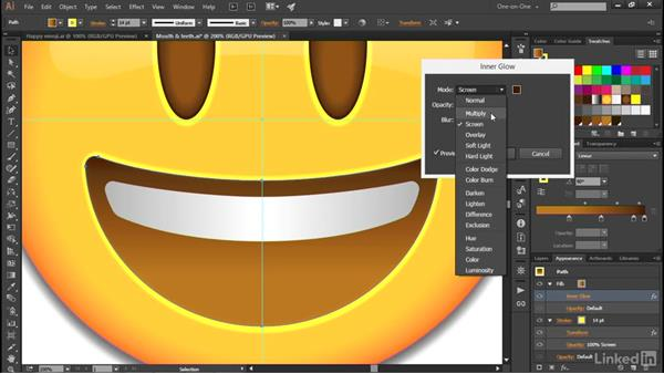Combining gradients with effects: Illustrator CC 2015 One-on-One: Advanced