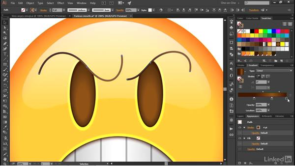 Variable-width gradient strokes: Illustrator CC 2015 One-on-One: Advanced