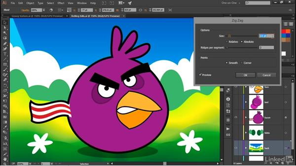Adding texture to your custom gradient: Illustrator CC 2015 One-on-One: Advanced