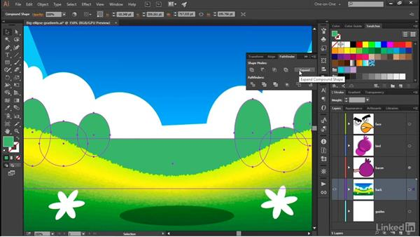 Creating a clipping mask: Illustrator CC 2015 One-on-One: Advanced