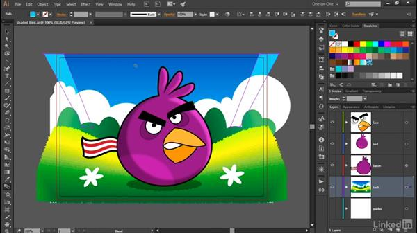Fixing problems with the Blend tool: Illustrator CC 2015 One-on-One: Advanced