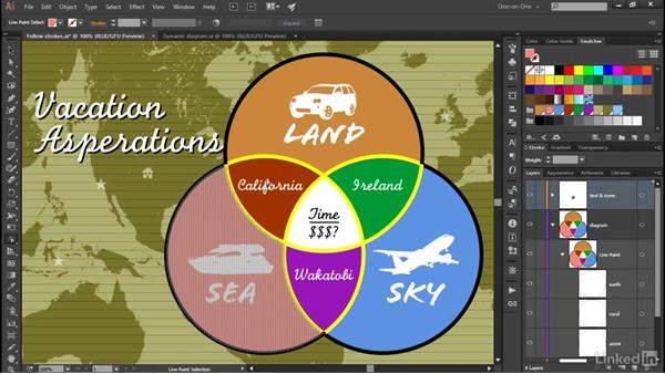 Using the Live Paint Selection tool: Illustrator CC 2015 One-on-One: Advanced