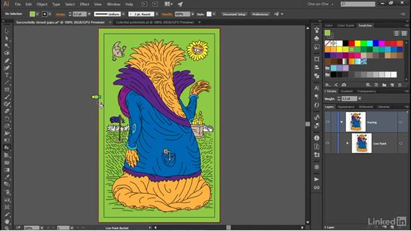 Merging Live Paint objects: Illustrator CC 2015 One-on-One: Advanced