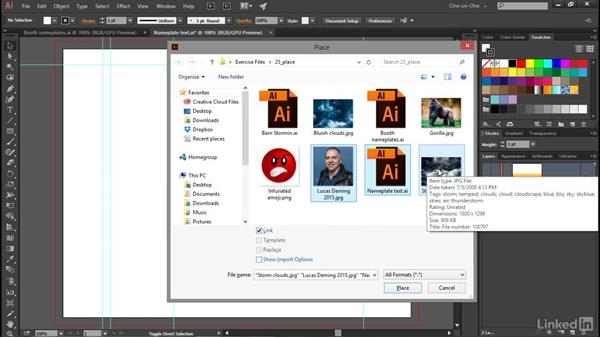Placing a photograph into your artwork: Illustrator CC 2015 One-on-One: Advanced