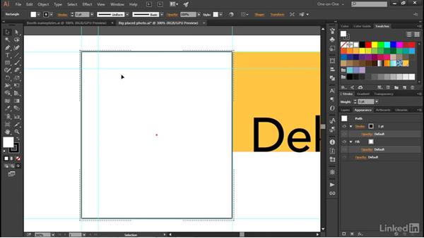 Cropping an image using a clipping mask: Illustrator CC 2015 One-on-One: Advanced