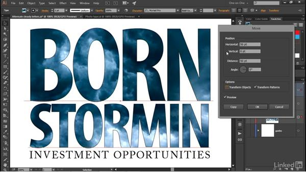 Adding stroke effects behind photo type: Illustrator CC 2015 One-on-One: Advanced
