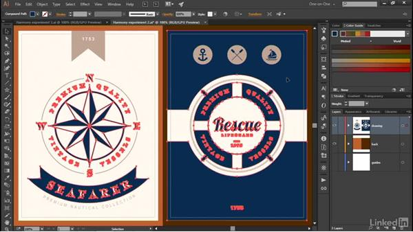 Loading a predefined swatch library: Illustrator CC 2015 One-on-One: Advanced