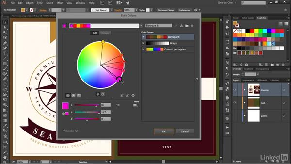 Introducing the Edit Colors dialog box: Illustrator CC 2015 One-on-One: Advanced