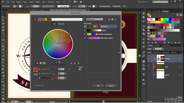 Mastering the Edit Colors controls: Illustrator CC 2015 One-on-One: Advanced