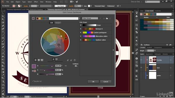 Constraining colors to a swatch library: Illustrator CC 2015 One-on-One: Advanced