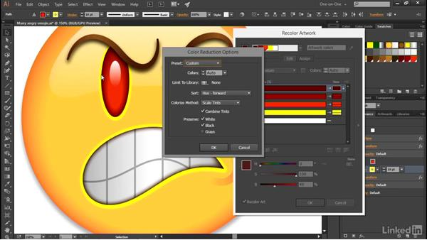 Introducing the Recolor Artwork command: Illustrator CC 2015 One-on-One: Advanced