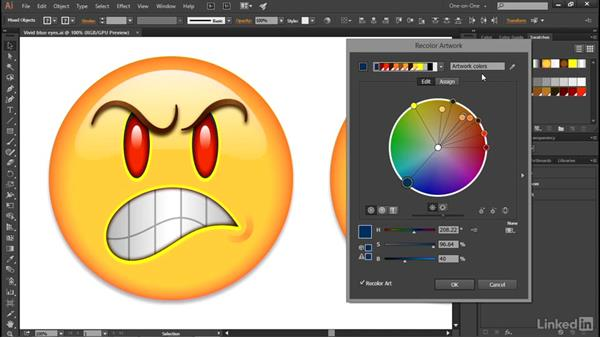 Editing colors in the Lab color wheel: Illustrator CC 2015 One-on-One: Advanced