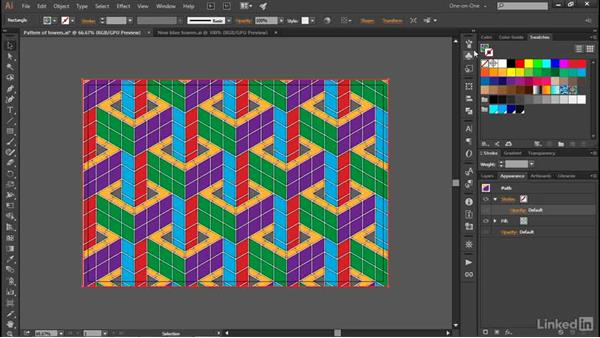 Recoloring a repeating tile pattern: Illustrator CC 2015 One-on-One: Advanced