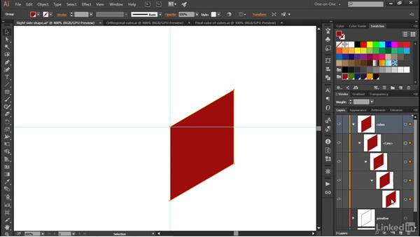 Drawing an orthogonal cube: Illustrator CC 2015 One-on-One: Advanced