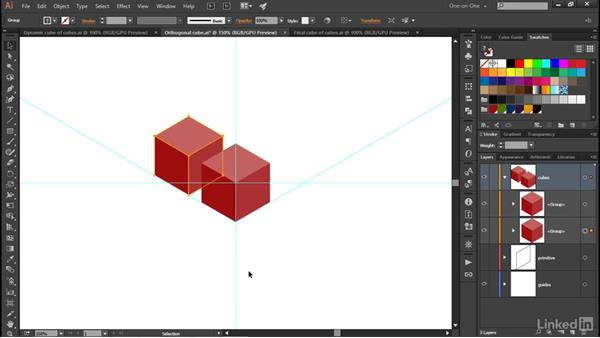 Creating a dynamic cube of cubes: Illustrator CC 2015 One-on-One: Advanced